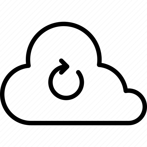 cloud, clouds, cloudy, forecast, rain, refresh, weather icon