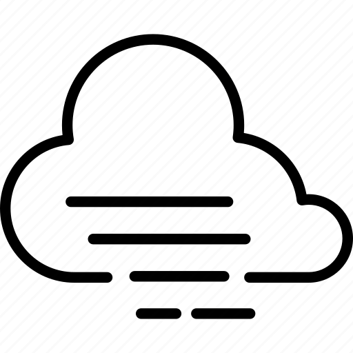 cloud, cloudy, fog, forecast, weather, wind, windy icon