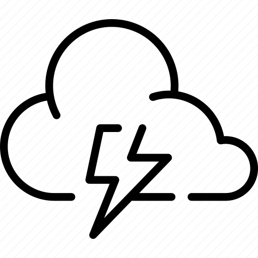 cloud, clouds, cloudy, forecast, rain, thunder, weather icon