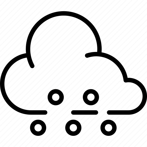 cloud, clouds, cloudy, hail, sleet, weather icon