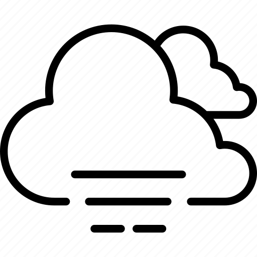 cloud, fog, forecast, haze, heavy, weather icon
