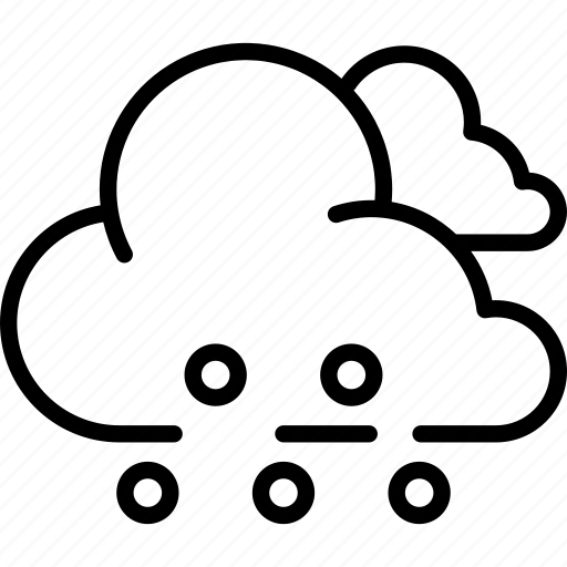 cloud, cloudy, forecast, hail, heavy, sleet, weather icon