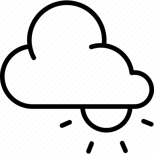 cloud, clouds, cloudy, day, high, sun, weather icon