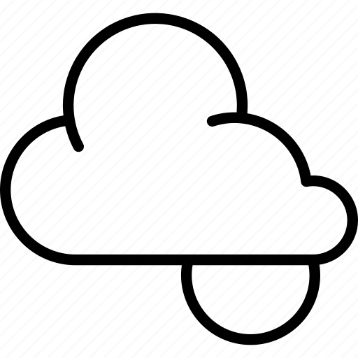 cloud, clouds, cloudy, forecast, high, night, weather icon