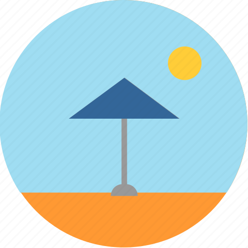 beach, desert, light, ray, safety, sun, sunshine icon