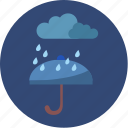 cloud, night, rain, umbrella, weather icon