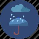 cloud, night, rain, umbrella, weather