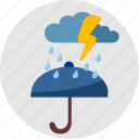 cloud, rain, round, umbrella, weather icon