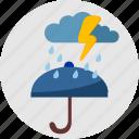 cloud, rain, round, umbrella, weather
