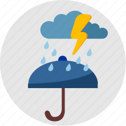 cloud, rain, round, umbrella, weather icon