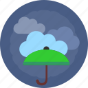 cloud, green, safety, umbrella, weather