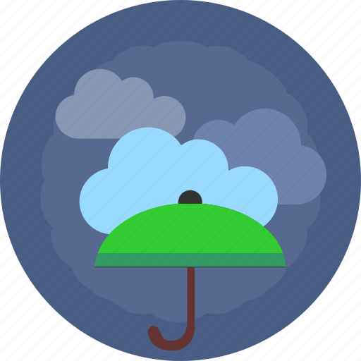 cloud, green, safety, umbrella, weather icon