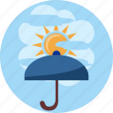 cloud, day, ray, safety, sun, sunshine, umbrella icon