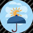cloud, day, ray, safety, sun, sunshine, umbrella