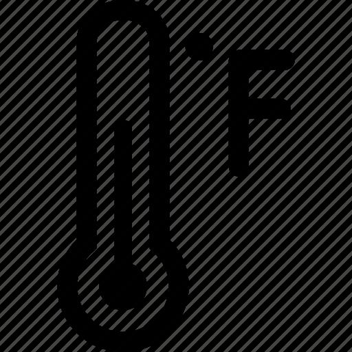 fahrenheit, measure, scale, temperature, thermometer icon