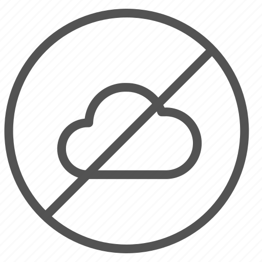 cancel, cloud, denied icon