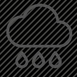 cloud, drop, rain, water icon