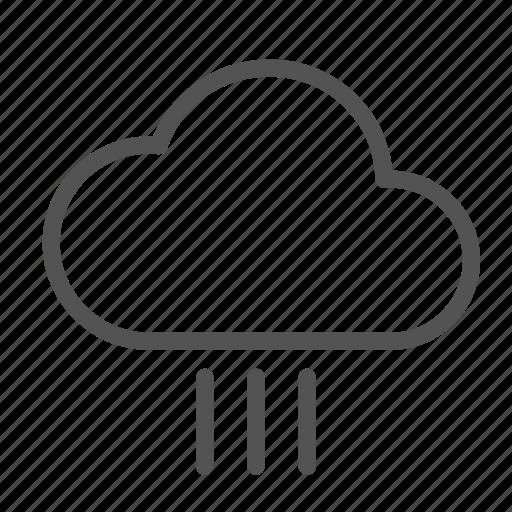 cloud, rain, straight icon