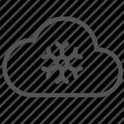 cloud, cold, flake, snow, winter icon