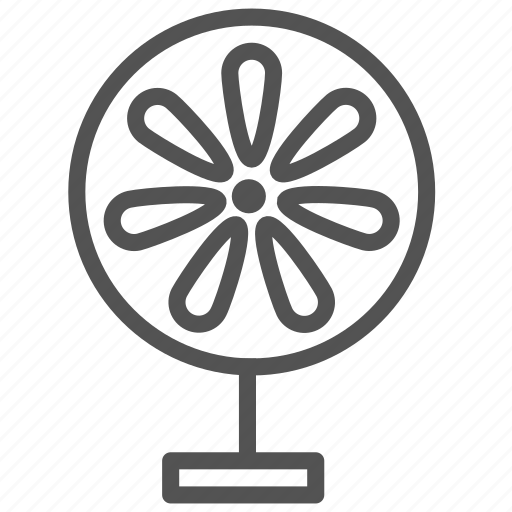 cooling, fan, old, system icon