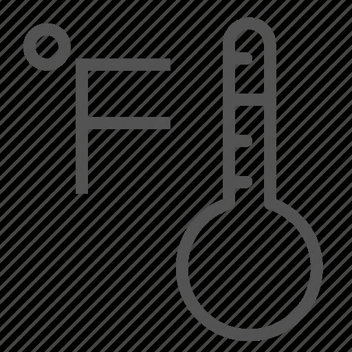 degree, fahrenheit, thermometer icon