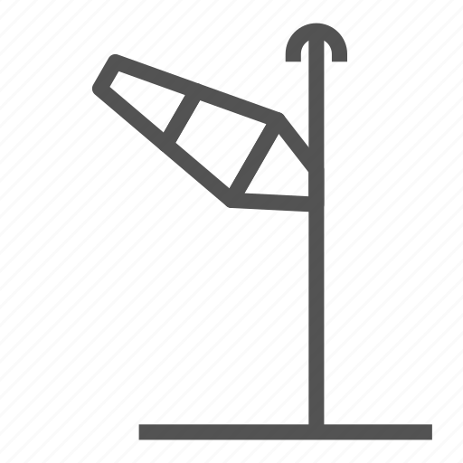 direction, left, pole, up, wind icon