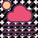 sun, weather, fog, cloudy, day