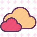 clouds, moon, night, stars icon