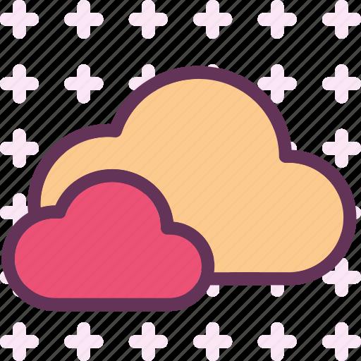 clouds, moon, night, stars icon