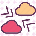 air, clouds, night, pressure, sunset, weather icon