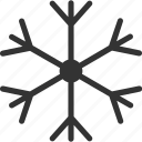 sleet, slush, snow, snow crystal, snowflake icon