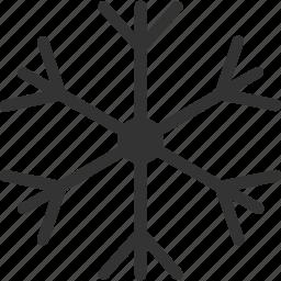 sleet, slush, snow, snow crystal, snowflake icon