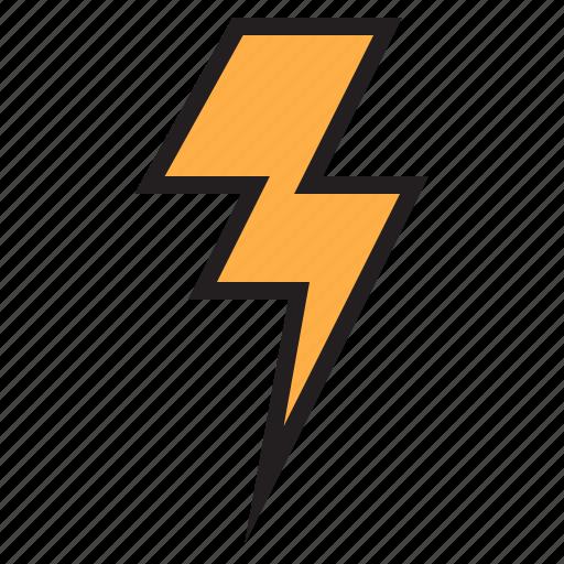 bolt, cloud, temperature, weather icon