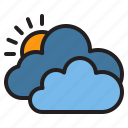 cloud, temperature, weather icon