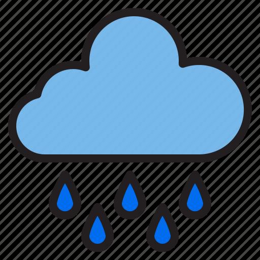 cloud, rain, temperature, weather icon
