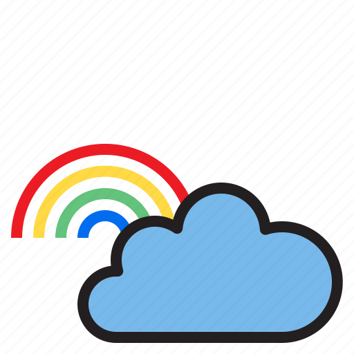 cloud, rainbow, temperature, weather icon