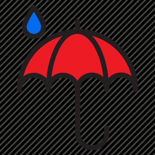 cloud, temperature, umbrella, weather icon