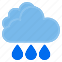 cloud, rain, temperature, weather icon