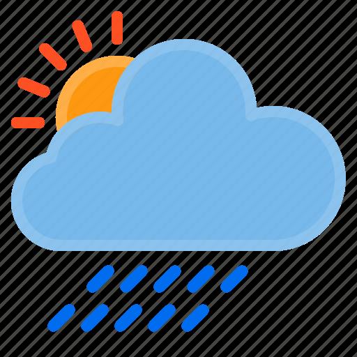 cloud, raining, temperature, weather icon