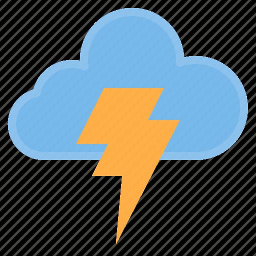 cloud, strom, temperature, weather icon