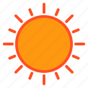 cloud, sunny, temperature, weather icon