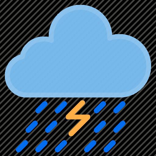 cloud, temperature, thunderstrom, weather icon