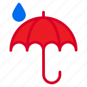 cloud, temperature, umbrella, weather icon