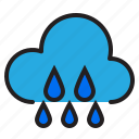 cloud, rainy, temperature, weather icon