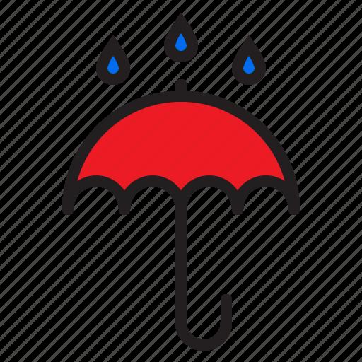 cloud, rainy, temperature, weather icon