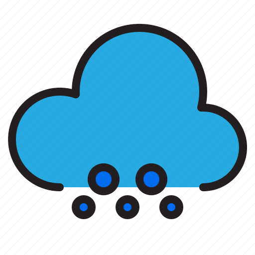 cloud, snowy, temperature, weather icon