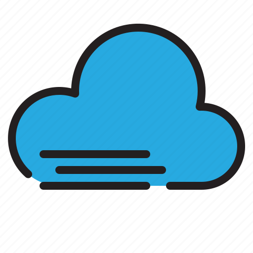 cloud, temperature, weather, windy icon