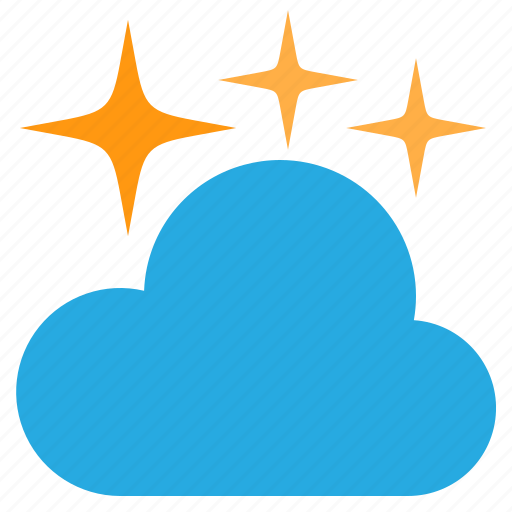 cloud, cloudy, night, temperature, weather icon