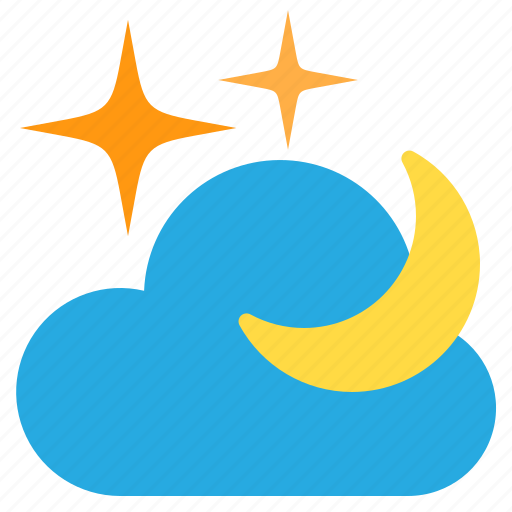 cloud, night, temperature, weather icon