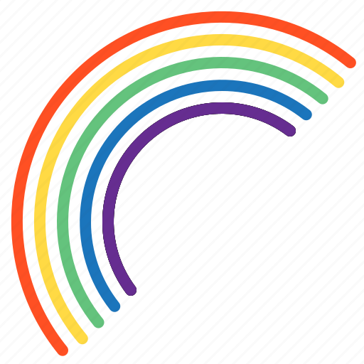 cloud, rainbow, temperature, weather icon